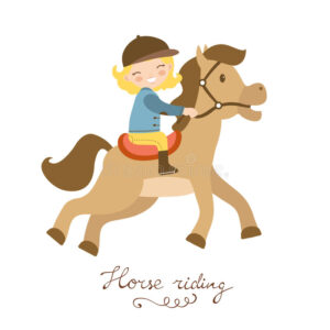 cute-little-girl-riding-horse-vector-illustration-59465225.jpg